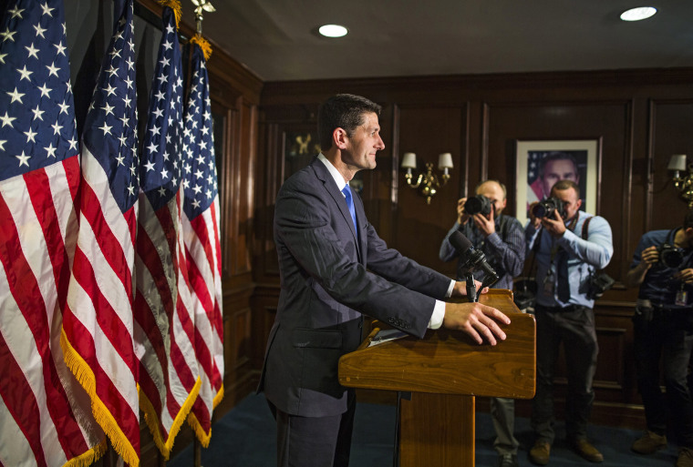Image:  Paul Ryan speaks at a press conference