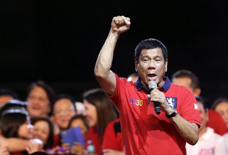 Image: Davao City Mayor Rodrigo Duterte on May 7, 2016