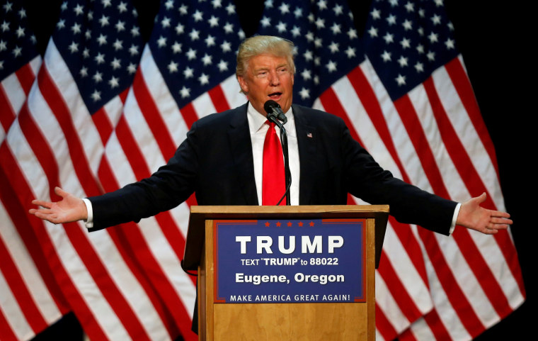 Image:  Donald Trump on May 6, 2016