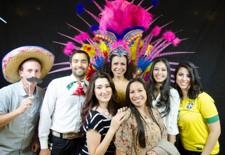 Students and friends celebrate at Brigham Young University's BYU Latino Festival, November 2014.