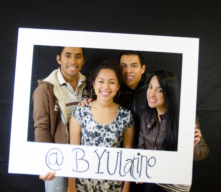 Celebrating Latino heritage at BYU Latino Festival, November 2014.