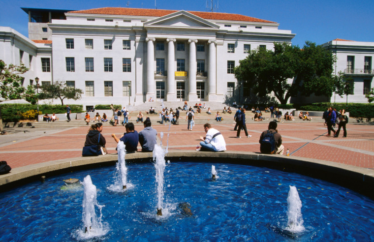 Sproul Hall and Plaza on Campus of University of California, Berkeley.