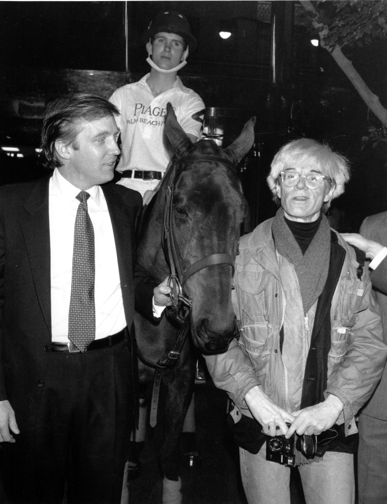 Image: Donald Trump and Andy Warhol