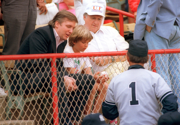 Image: New York Yankees manager Billy Martin, right, meets developer Donald Trump