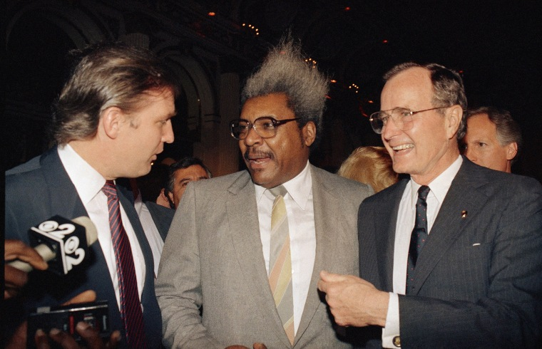 Image: Trump, Don King, and Vice President George Bush