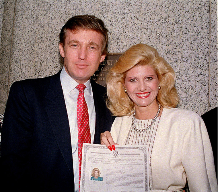 Image: Donald Trump and his wife, Ivana