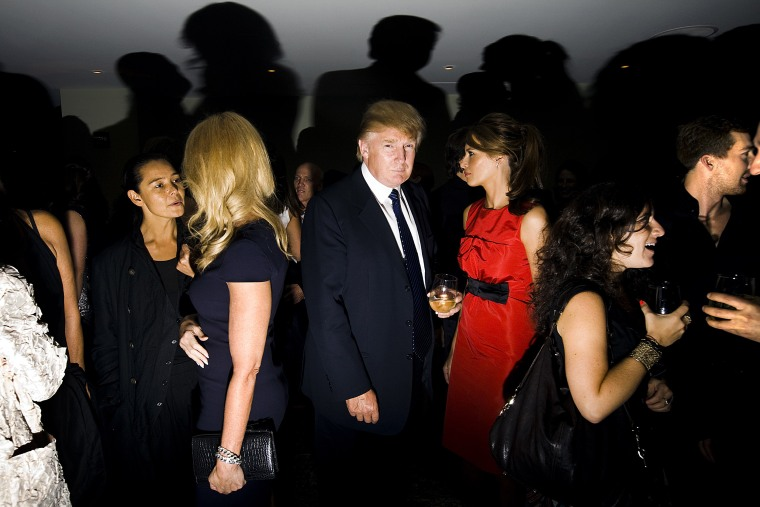 Image: Donald Trump attends New York fashion week on Sept. 10, 2008