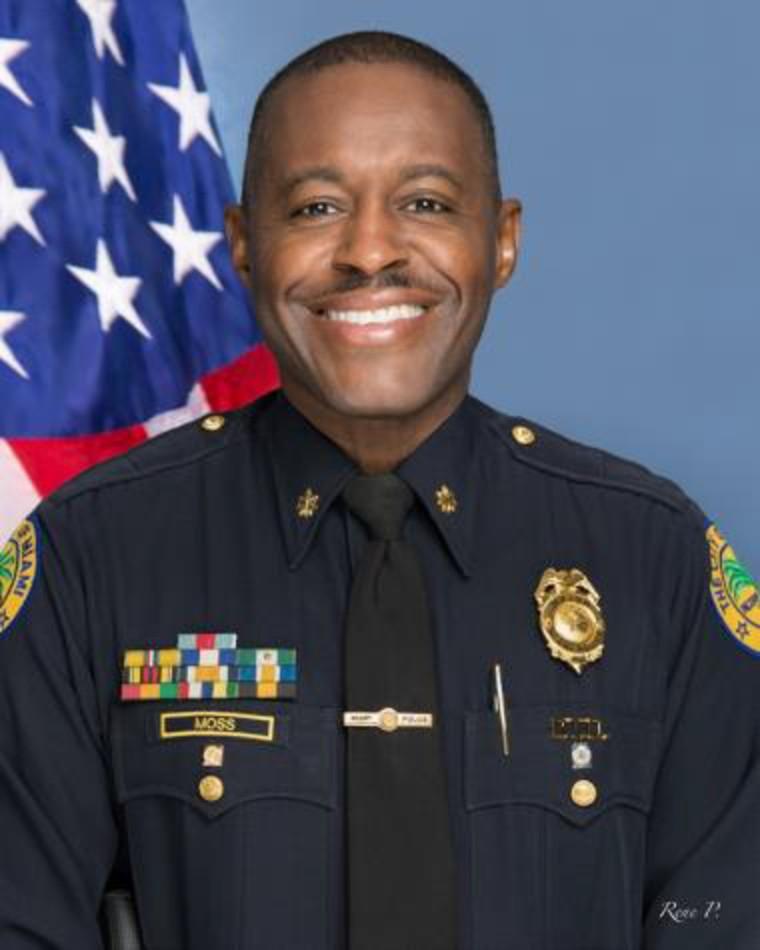 Miami Police Maj. Delrish Moss, new chief of the Ferguson, Missouri, Police Department.