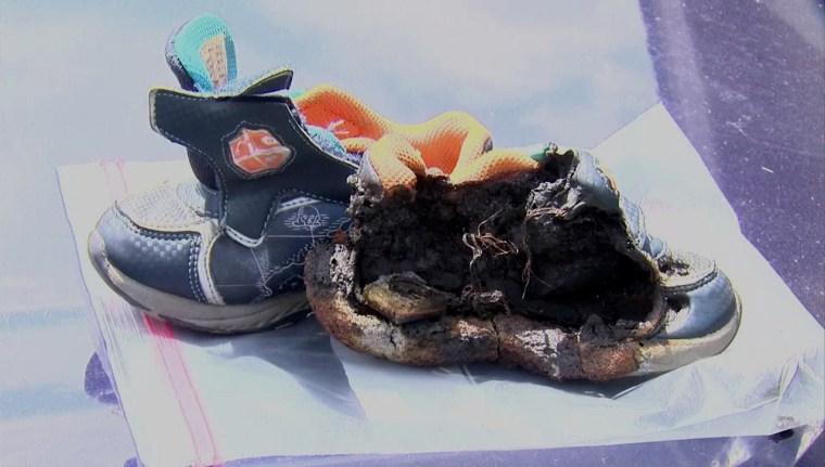 IMAGE: Burned shoes