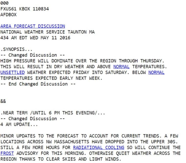 IMAGE: Old NWS forecast