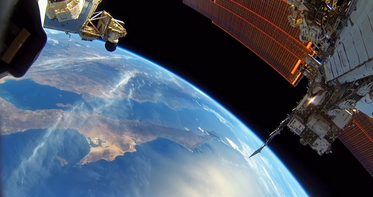 Earth is seen from the International Space Station