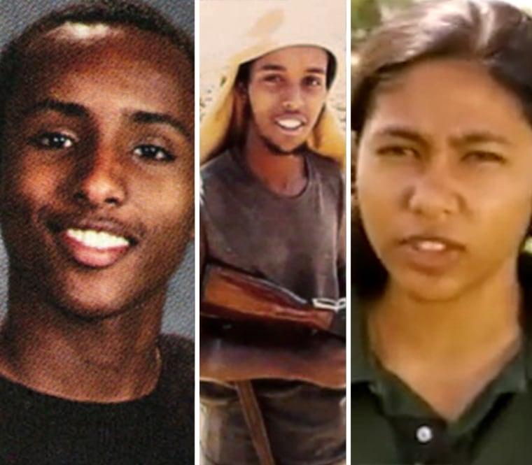 Hanad Abdullahi, Abd Al Fatah and Zakia Nasrin in a combination photo.