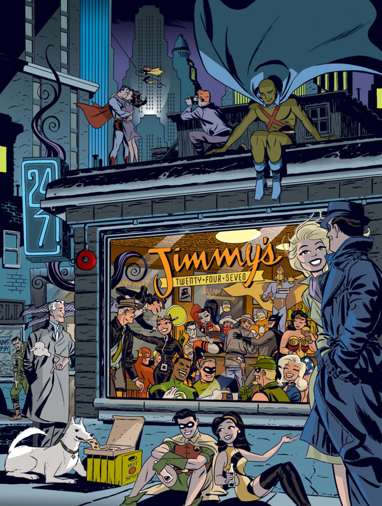 This image provided by DC Entertainment on Saturay, May 14, 2016 shows work by Darwyn Cooke. The comic book artist best known for his vibrantly imaginative work on DC superheroes and noir crime stories died on Saturday following a battle with lung cancer, his wife, Marsha Cooke, said. He was 53.