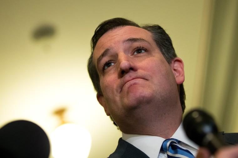 Image: Sen. Ted Cruz (R-TX) Addresses The Media At The Capitol