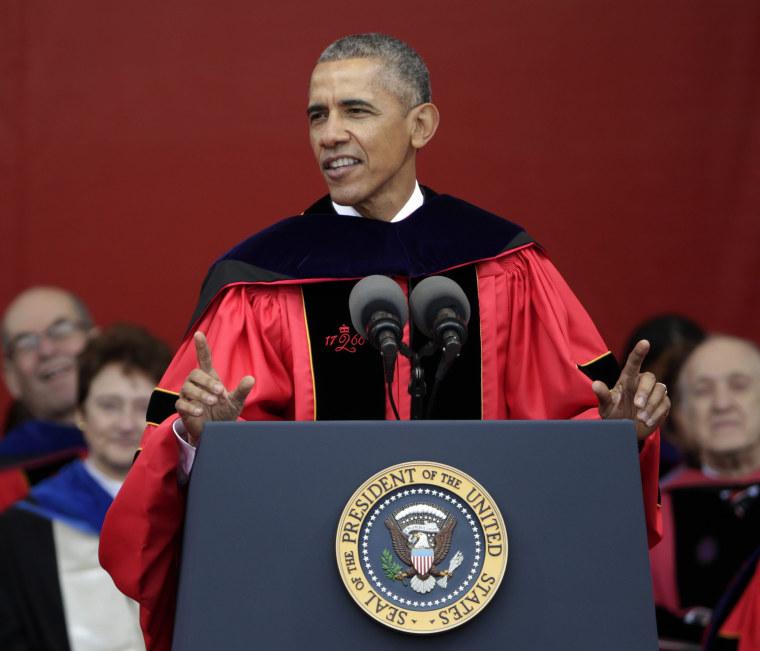 Image: US President Barack Obama delivers Rutgers University Commencement speech