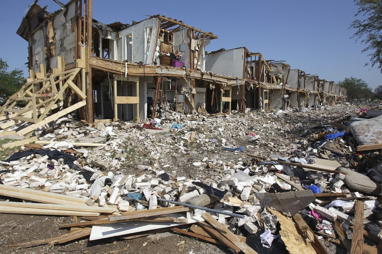 Image: The site of the fire and explosion at a fertilizer factory in West, Texas