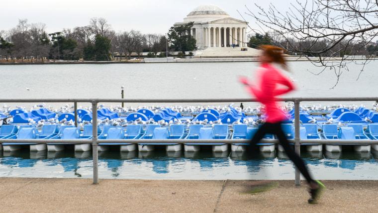 A runner in Washington, D.C.