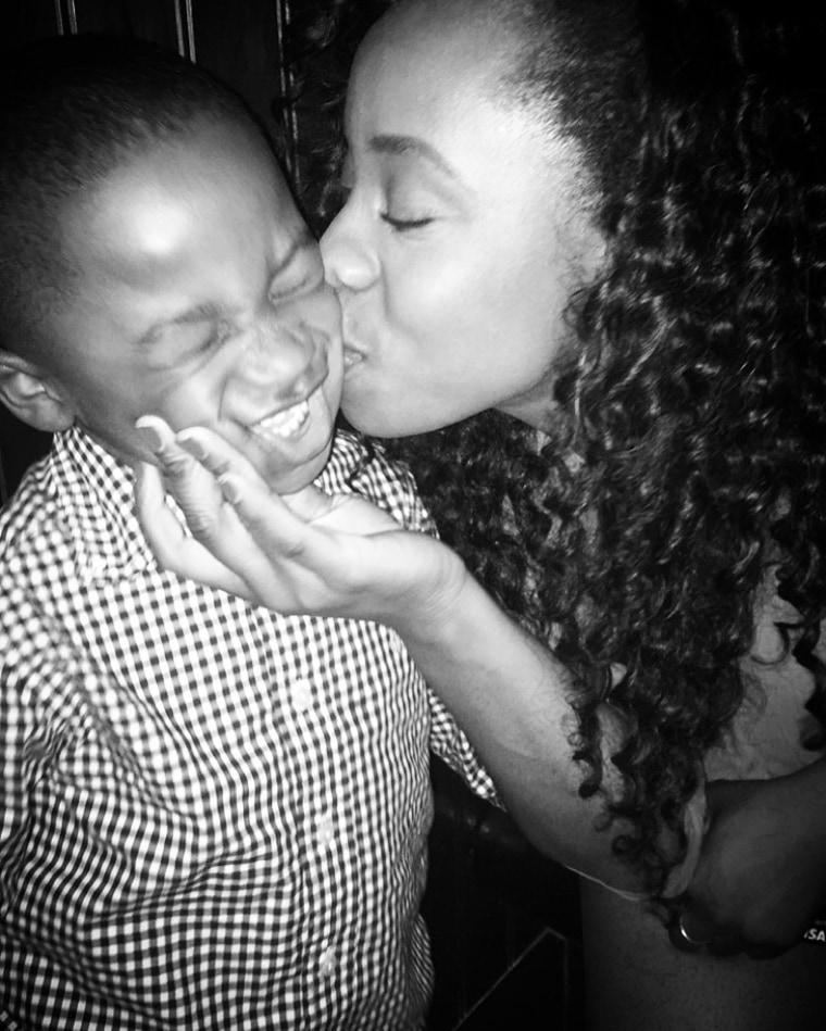 Jelina Sheppard with son Karter
