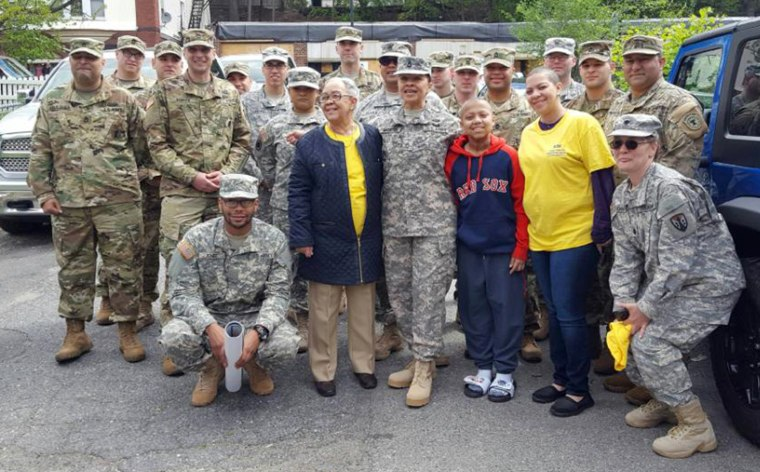 Teen cancer-survivor Christian Lopez got a surprise parade from local U.S. Army officers