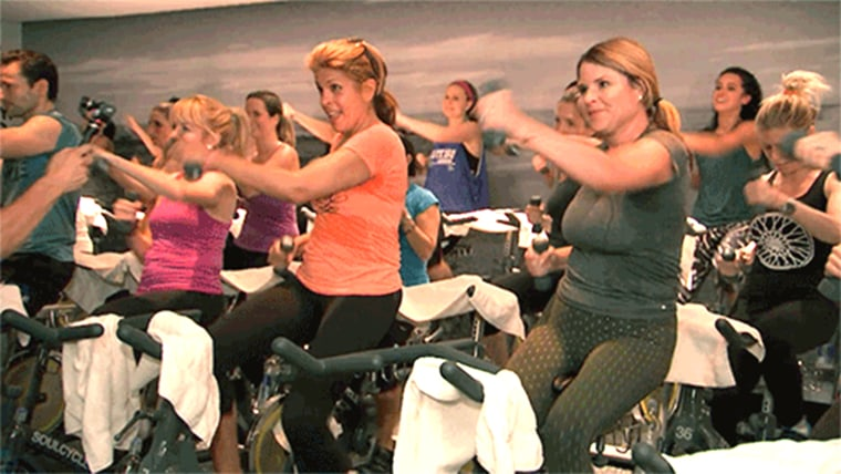 Hoda and Jenna and soulcycle