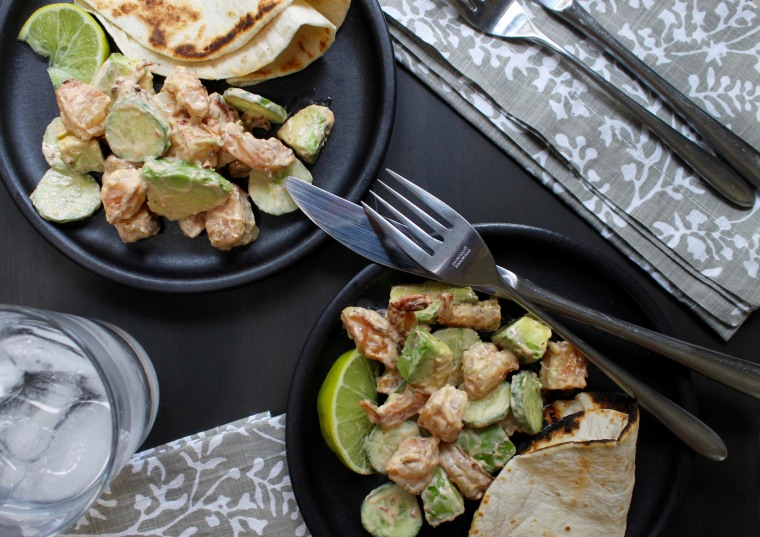5-Ingredient Spicy Grilled Shrimp and Avocado Salad