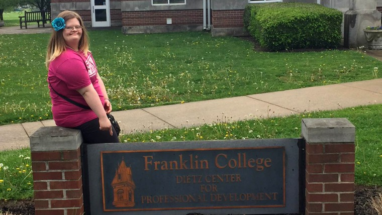 Indiana teen with Down Syndrome learned she was accepted into college program.