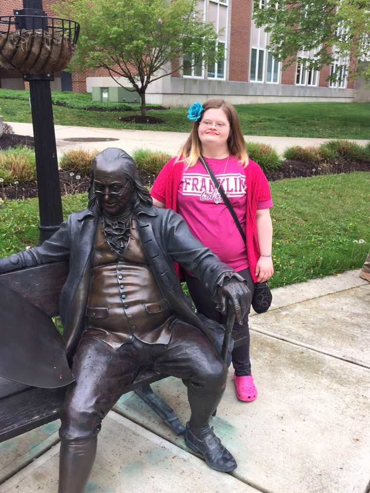 Mickey Deputy finds out she was accepted into Franklin College's INSPIRE program.
