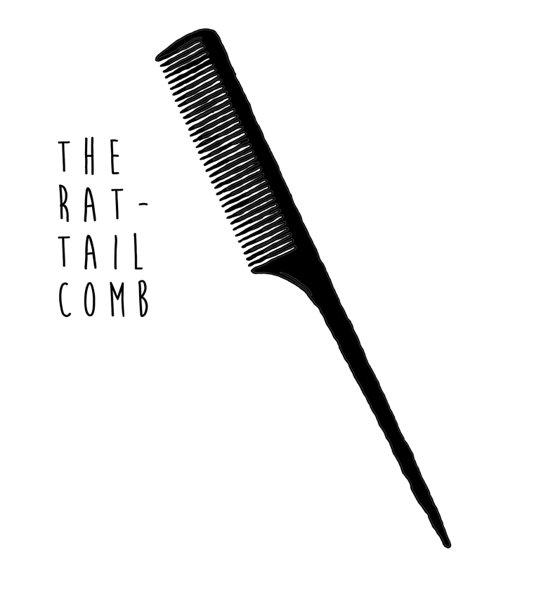 Rat-tail comb