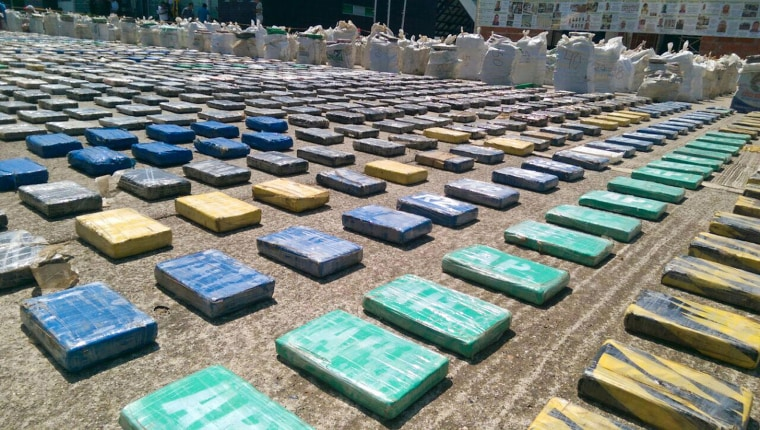 Image: Eight tons of seized cocaine