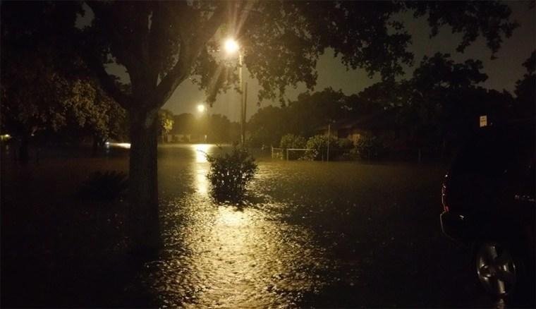 Flooded streets in Corpus Christi, Texas.