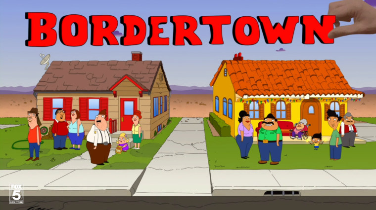 "Opening sequence for ""Bordertown."""