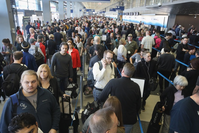 Image: *** BESTPIX *** As Long Lines In Airports Rise, TSA Struggles To Cut Waiting Times