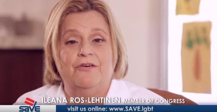 Florida Congresswoman Ileana Ros-Lehtinen speaking for SAVE on behalf of transgender rights.