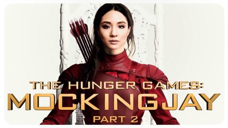 "Constance Wu photoshopped into the film poster for ""The Hunger Games: Mockingjay Part 2."""