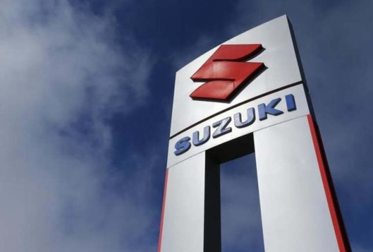A view shows a Suzuki car dealership sign in National City
