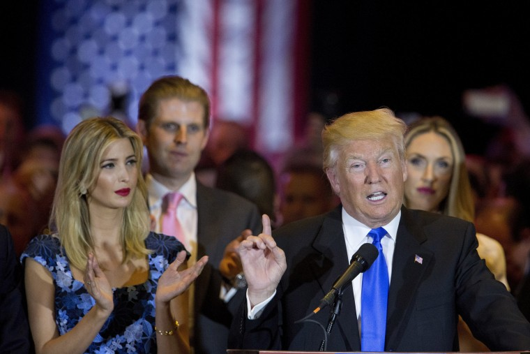 Image: Donald Trump, Ivanka Trump, Eric Trump