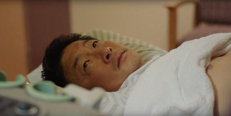 """In this still from """"Be About It,"""" former San Francisco ABC 7 anchor Alan Wang gets routine testing on his liver."""