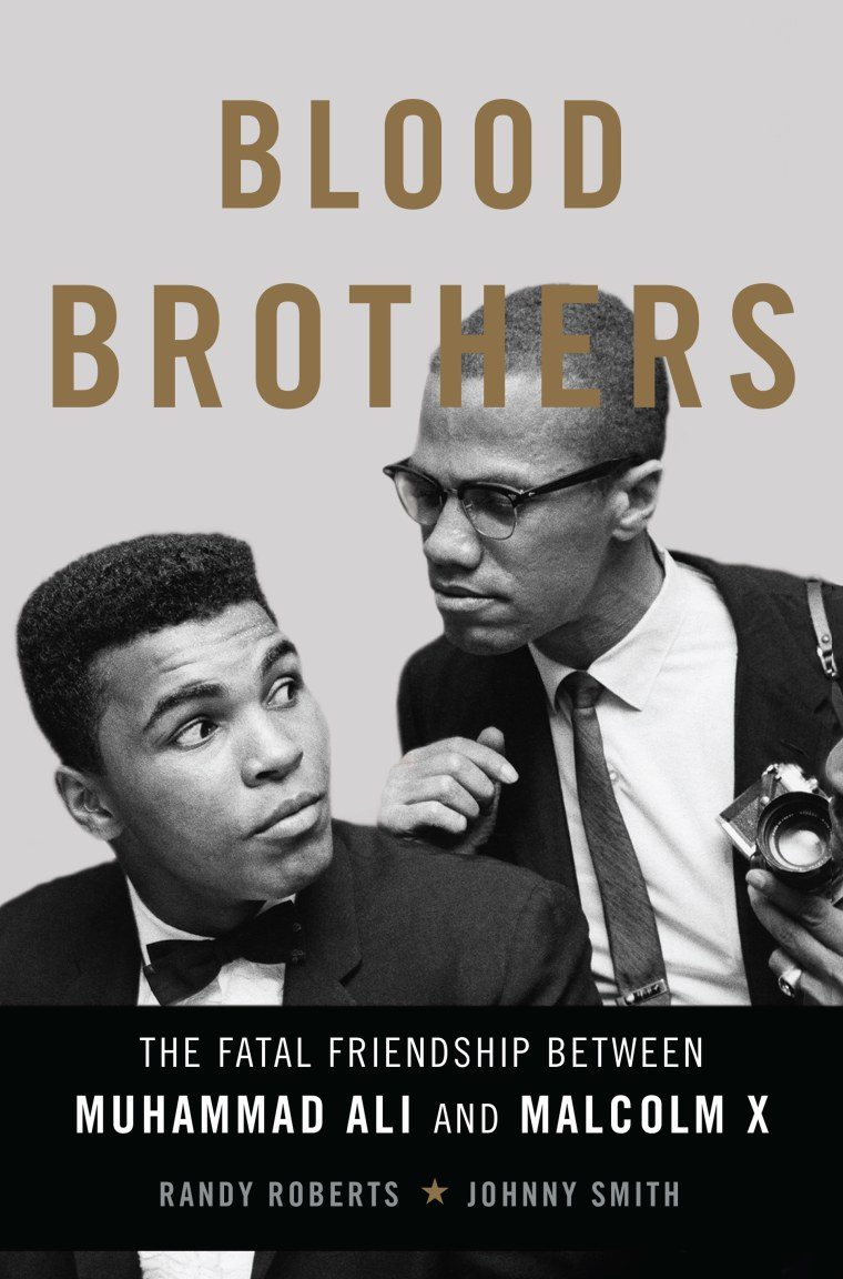 """The front cover of the book, """"Blood Brothers: The Fatal Friendship Between Muhammad Ali and Malcolm X"""" by co-authors Randy Roberts and Johnny Smith."""