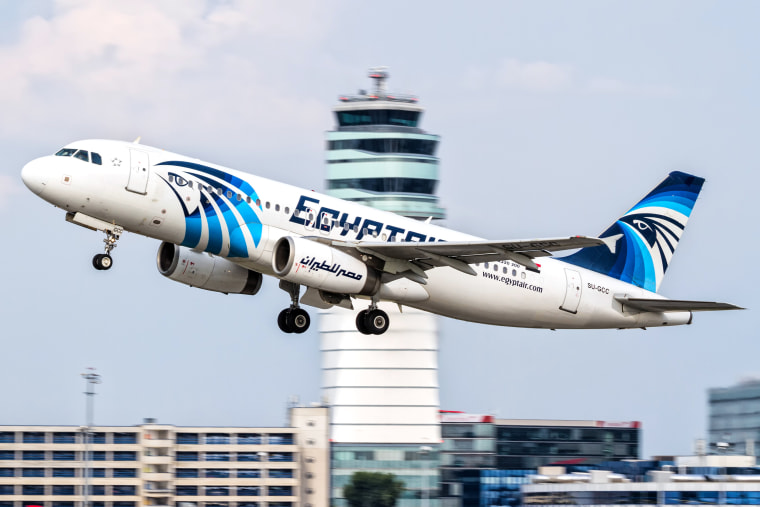 Image:  EgyptAir Airbus A320 with the registration SU-GCC