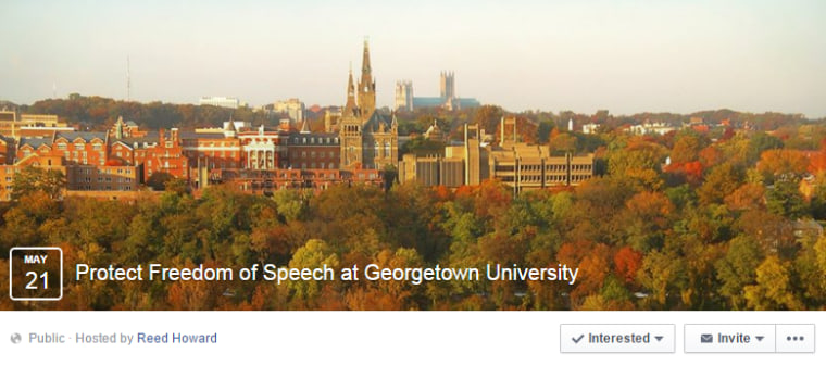 Protect Free of Speech at George University Facebook Event