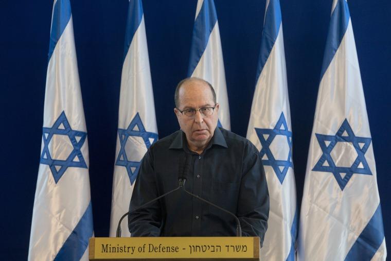 Image: Israel Defense Minister Moshe Yaalon