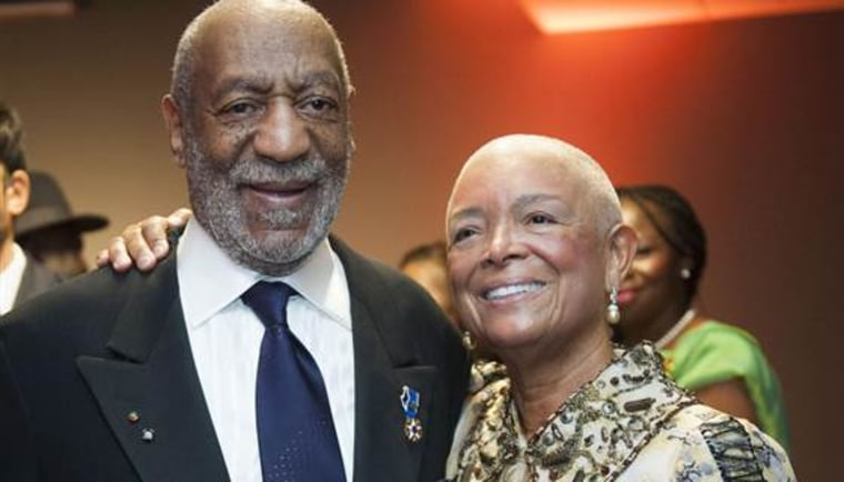 Dr. Bill Cosby and Dr. Camille Cosby, right, are photographed at the 50th Anniversary Gala of the Smithsonian's National Museum of African Art on Friday, Nov. 7,  in Washington.
