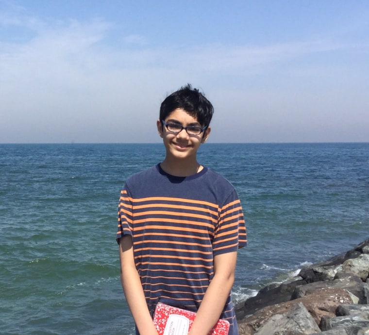 Tanishq Abraham, seen in April 2016, was accepted to two colleges at only 12 years old.