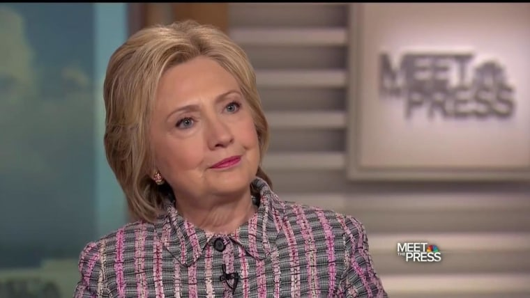 "Hillary Clinton on NBC's ""Meet the Press"""