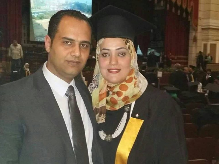 MS804 passengers Ahmed el Ashry and Reham Mosad, husband and wife.