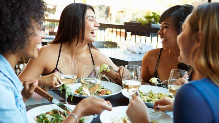 women having salads