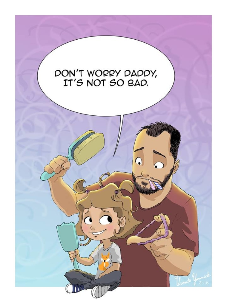 single dad cartoons