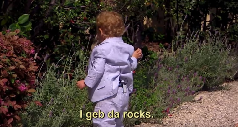 ethan throwing rocks on the baby bachelorette