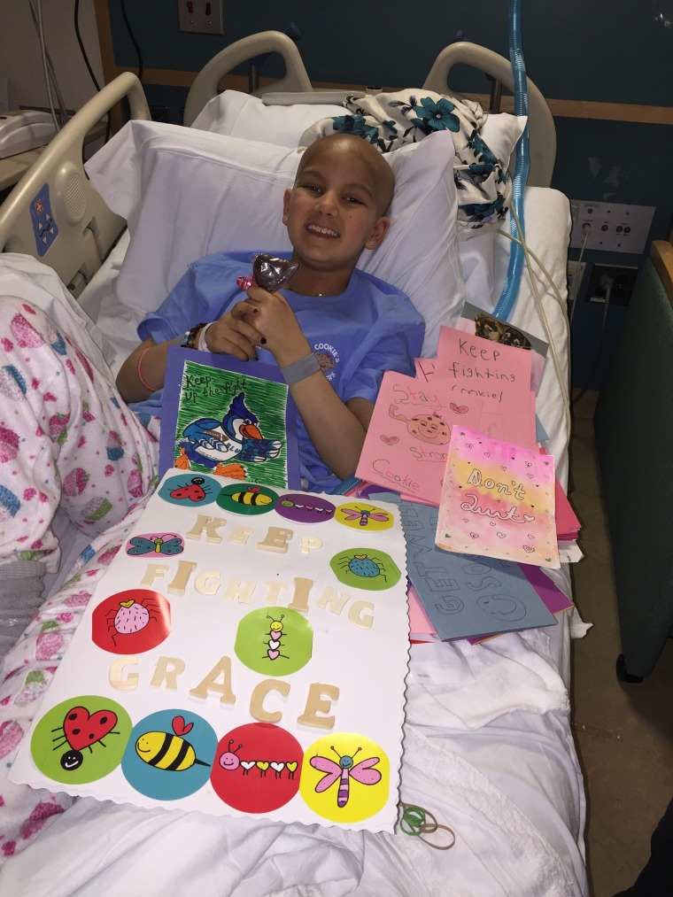 Grace during a hospital treatment.