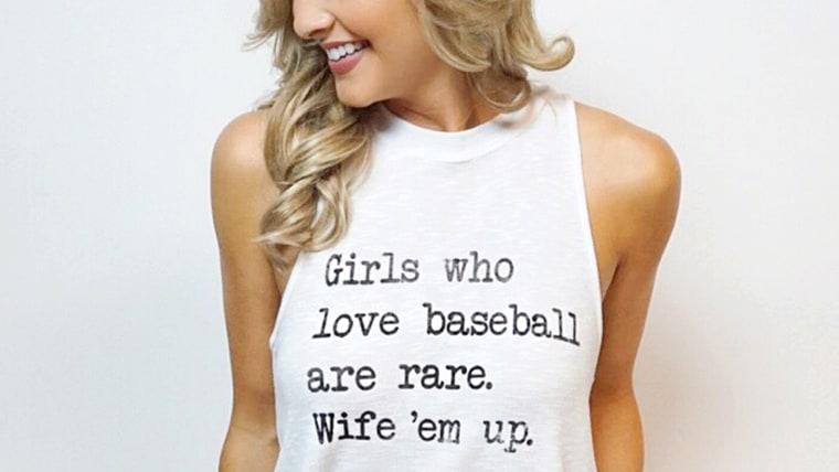 Baseball - Wife 'Em Up - White Tank